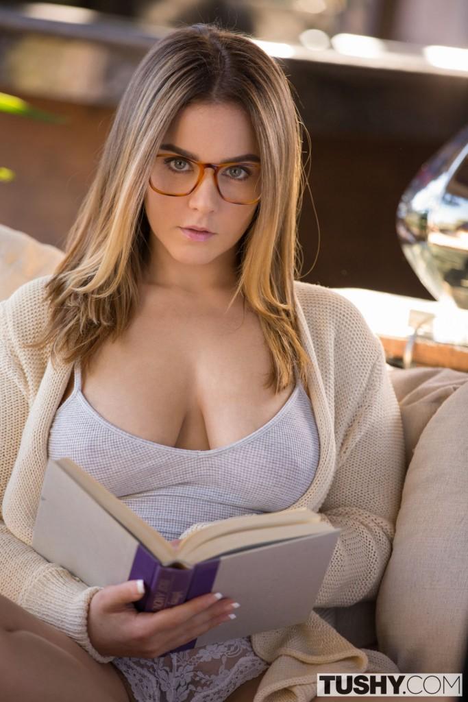 Nude glasses stepsister anal