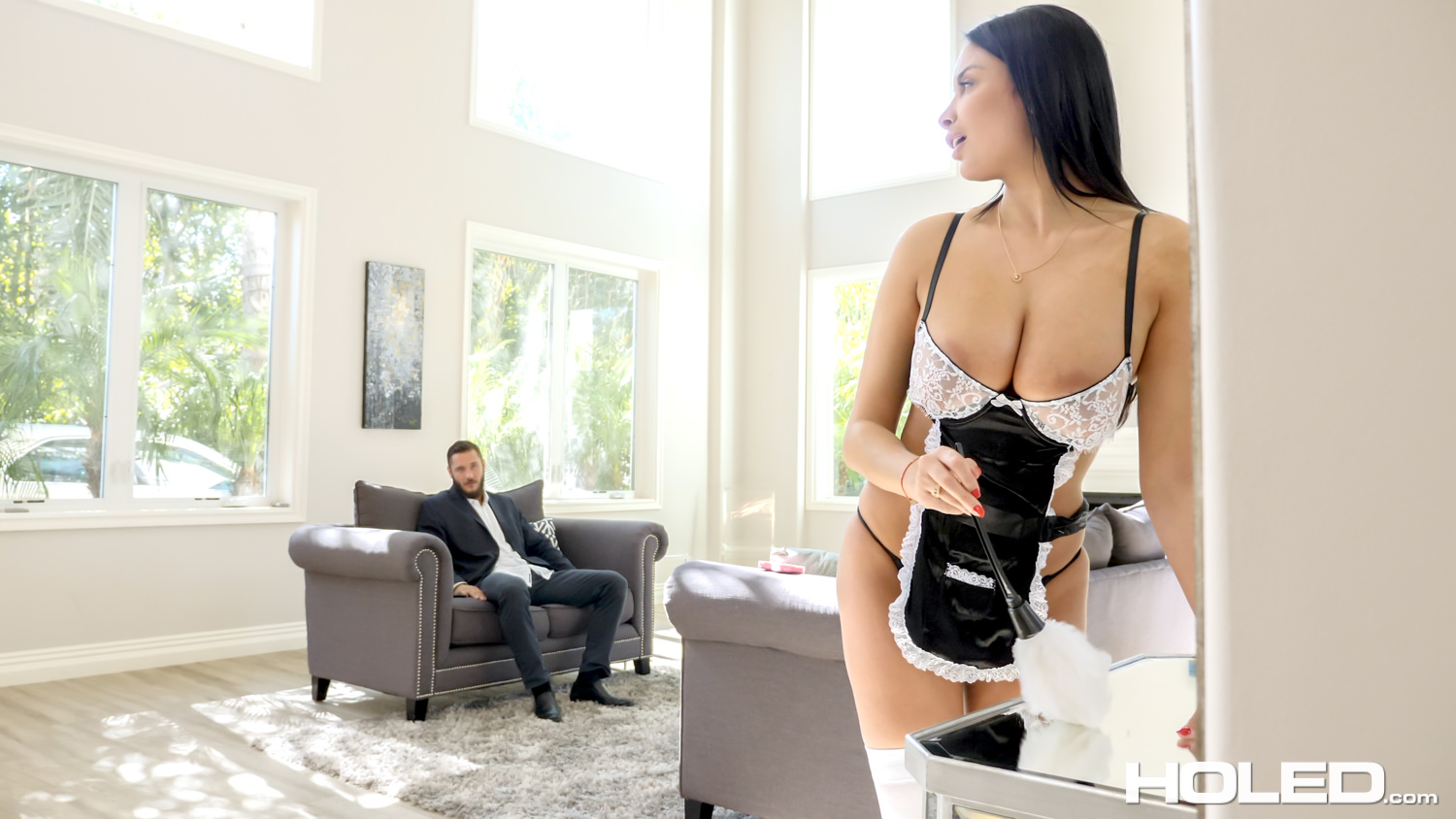 Holed Anissa Kate Plugged French Maid - Anal Sex Tube -6472